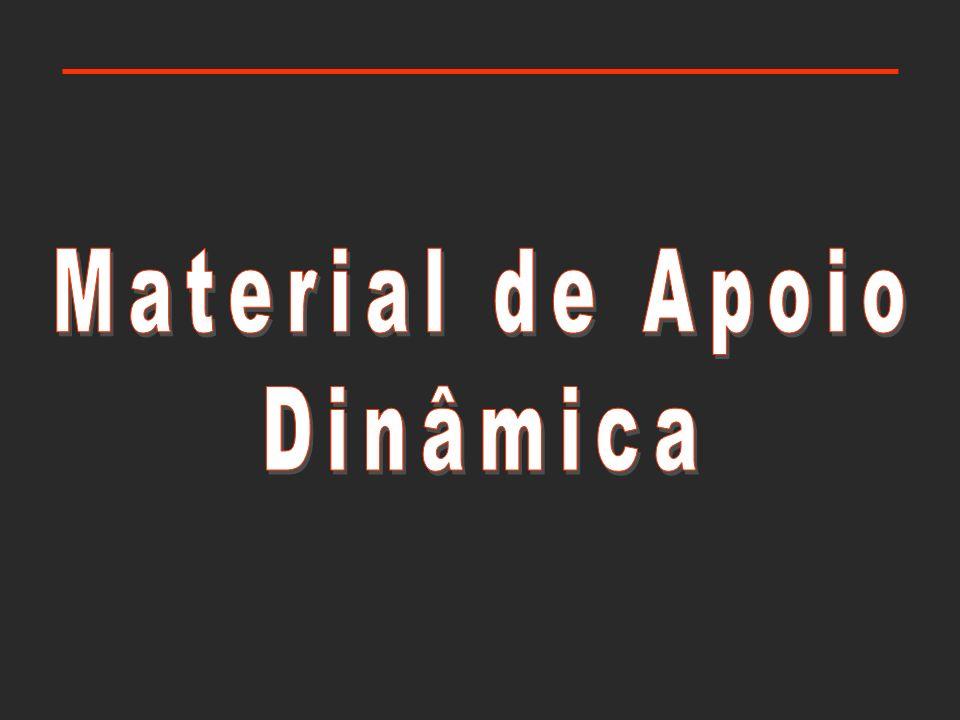 Material de apoio: dinâmica coeficiente de atrito cinético Forças de atrito (despreza-se a dimensão do objecto) opõem-se sempre ao movimento corpo em movimento
