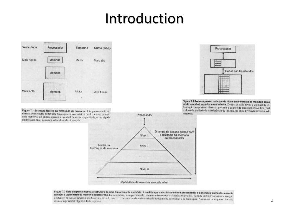 Taxa de Acerto (Hit Rate) de um determinado nível de memória é uma fração que indica a percentagem de todos os acessos àquele nível que resultaram em acerto.