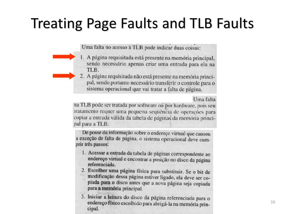 vargas@computer.org39 Treating Page Faults and TLB Faults