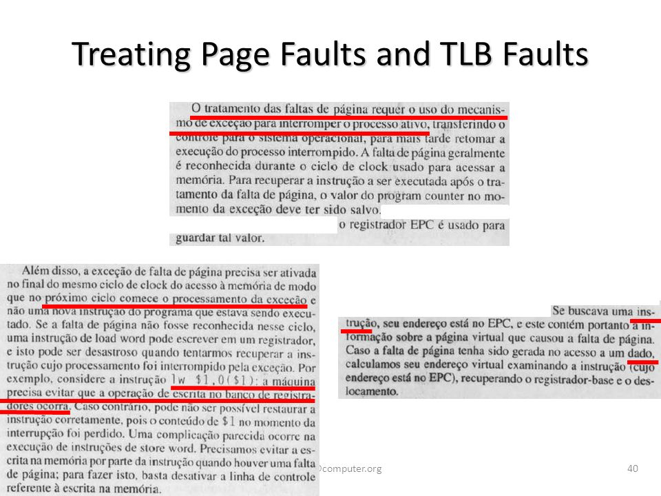 vargas@computer.org40 Treating Page Faults and TLB Faults