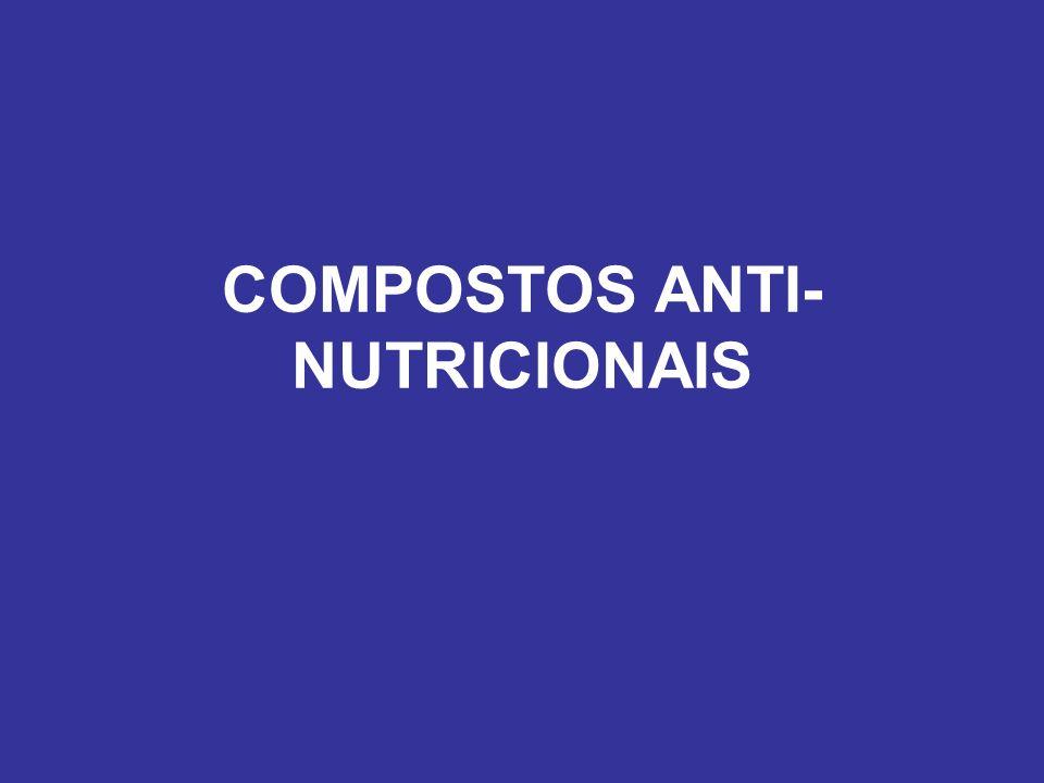 COMPOSTOS ANTI- NUTRICIONAIS