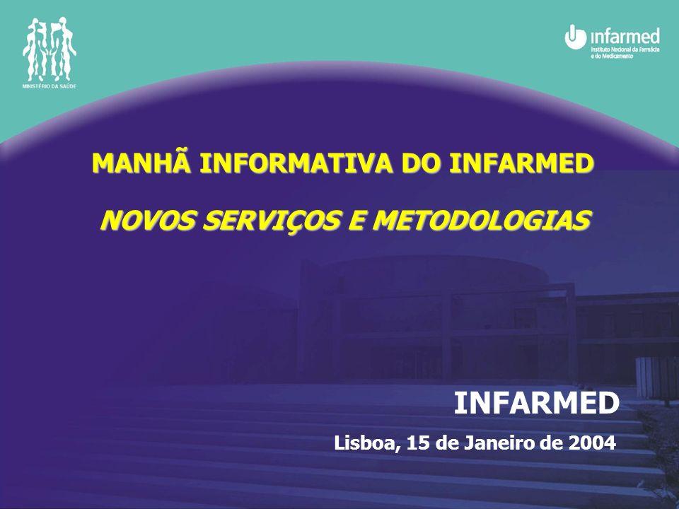 MANHÃ INFORMATIVA DO INFARMED NOVOS SERVIÇOS E METODOLOGIAS INFARMED Lisboa, 15 de Janeiro de 2004