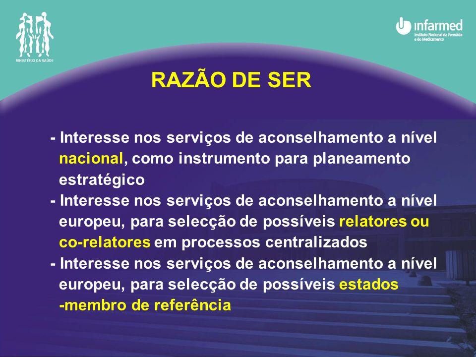 - Interesse nos serviços de aconselhamento a nível nacional, como instrumento para planeamento estratégico - Interesse nos serviços de aconselhamento