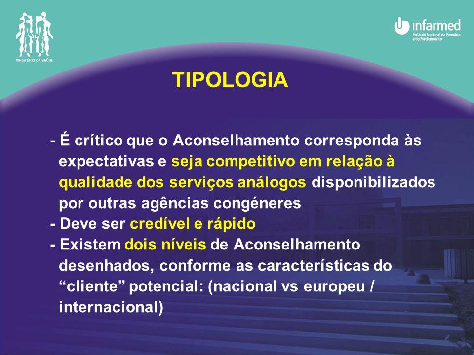 - É crítico que o Aconselhamento corresponda às expectativas e seja competitivo em relação à qualidade dos serviços análogos disponibilizados por outr