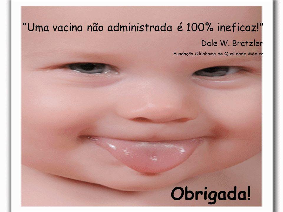 47 Obrigada! Uma vacina não administrada é 100% ineficaz! Dale W. Bratzler Fundação Oklahoma de Qualidade Médica