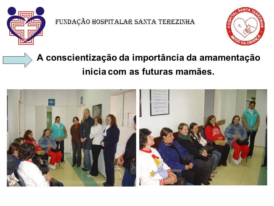 A conscientização da importância da amamentação inicia com as futuras mamães. Fundação Hospitalar Santa Terezinha