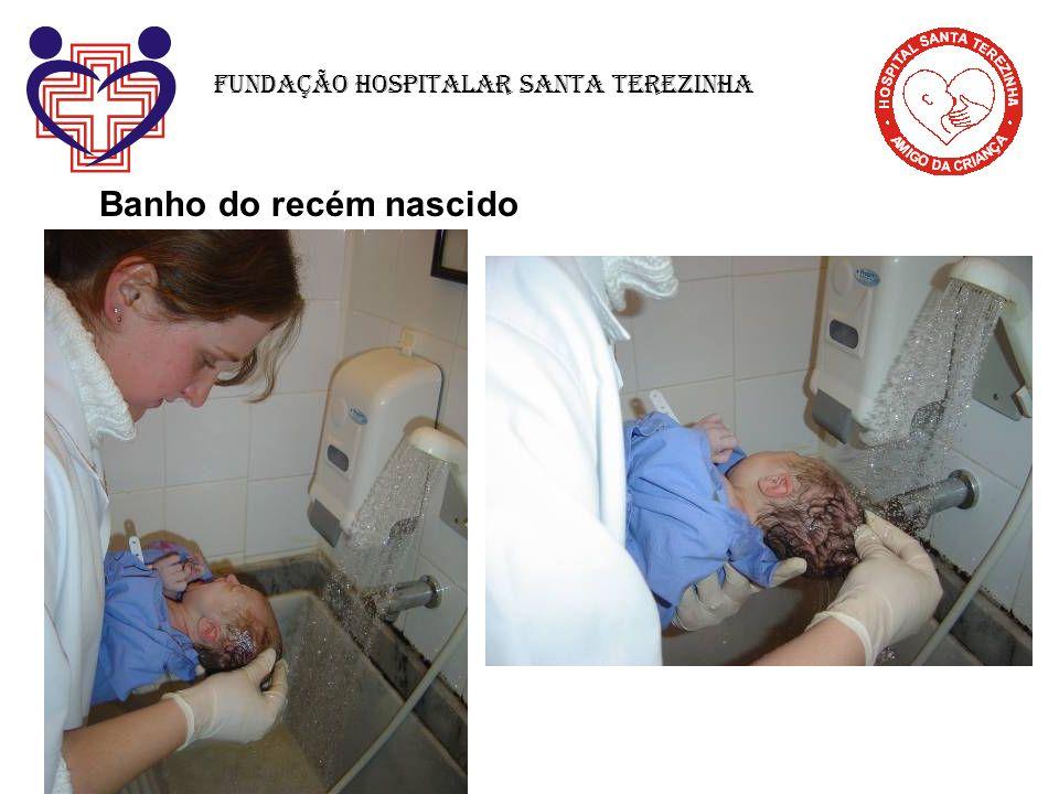 Banho do recém nascido Fundação Hospitalar Santa Terezinha