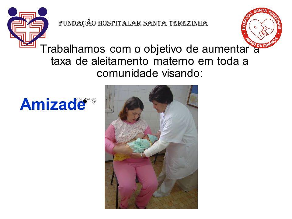 Trabalhamos com o objetivo de aumentar a taxa de aleitamento materno em toda a comunidade visando: Fundação Hospitalar Santa Terezinha AAMI Amizade