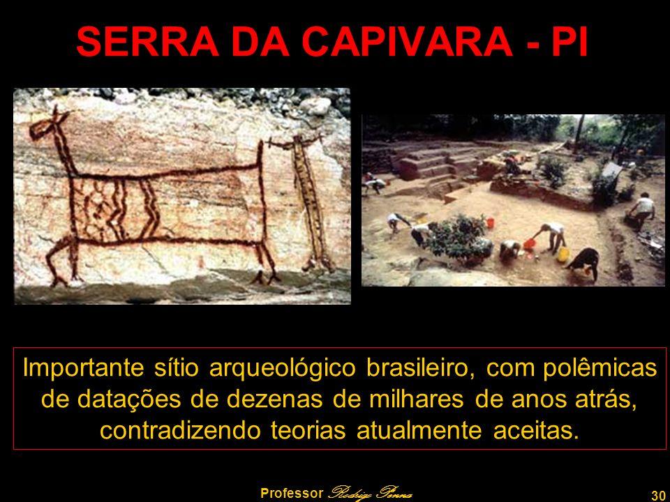 30 Professor Rodrigo Penna SERRA DA CAPIVARA - PI Importante sítio arqueológico brasileiro, com polêmicas de datações de dezenas de milhares de anos atrás, contradizendo teorias atualmente aceitas.