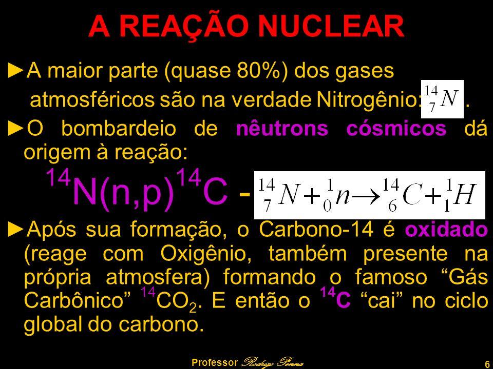 6 Professor Rodrigo Penna A REAÇÃO NUCLEAR A maior parte (quase 80%) dos gases atmosféricos são na verdade Nitrogênio:.