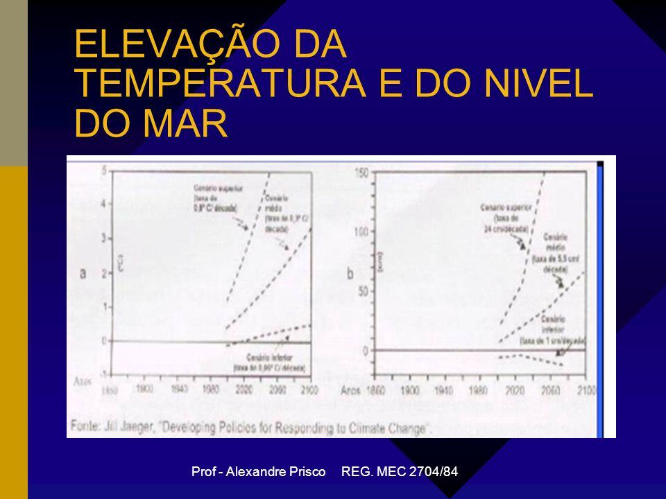 Prof - Alexandre Prisco REG. MEC 2704/84 ELEVAÇÃO DA TEMPERATURA E DO NIVEL DO MAR