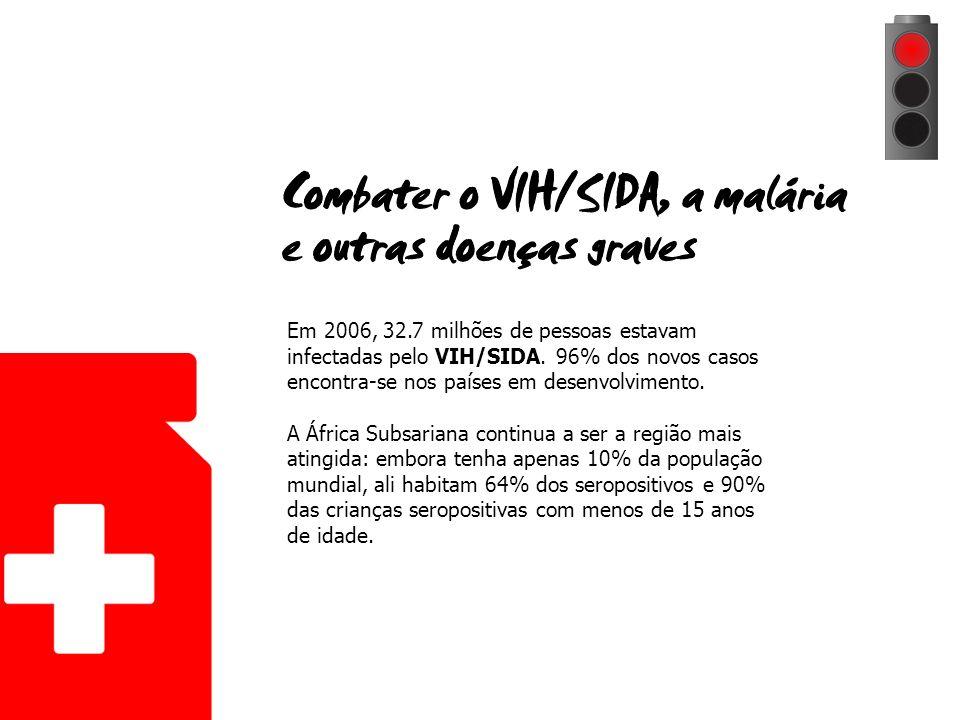 Em 2006, 32.7 milhões de pessoas estavam infectadas pelo VIH/SIDA.