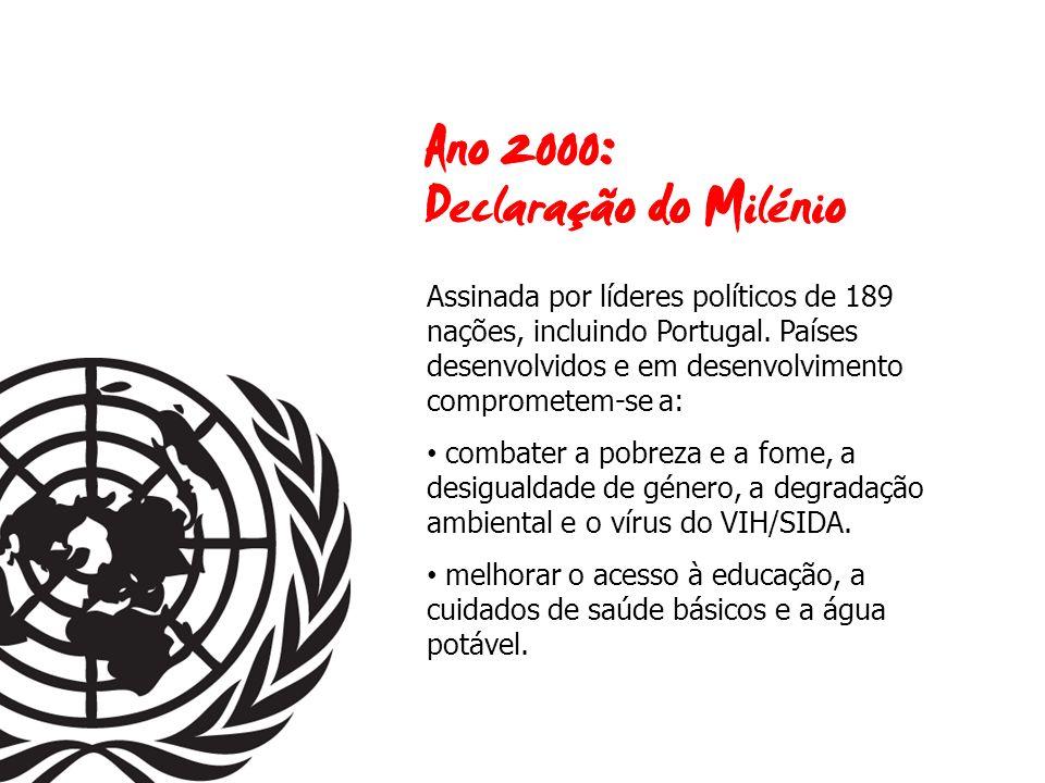 Assinada por líderes políticos de 189 nações, incluindo Portugal.