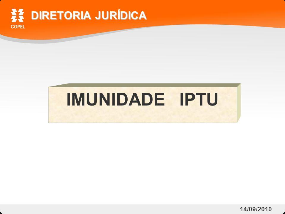 IMUNIDADE IPTU DIRETORIA JURÍDICA 14/09/2010