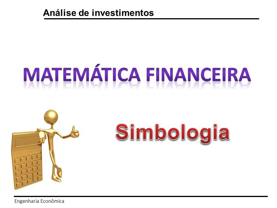 Engenharia Econômica Matemática financeira Fluxo de caixa – Convenção para o investidor 0 1 2 3...