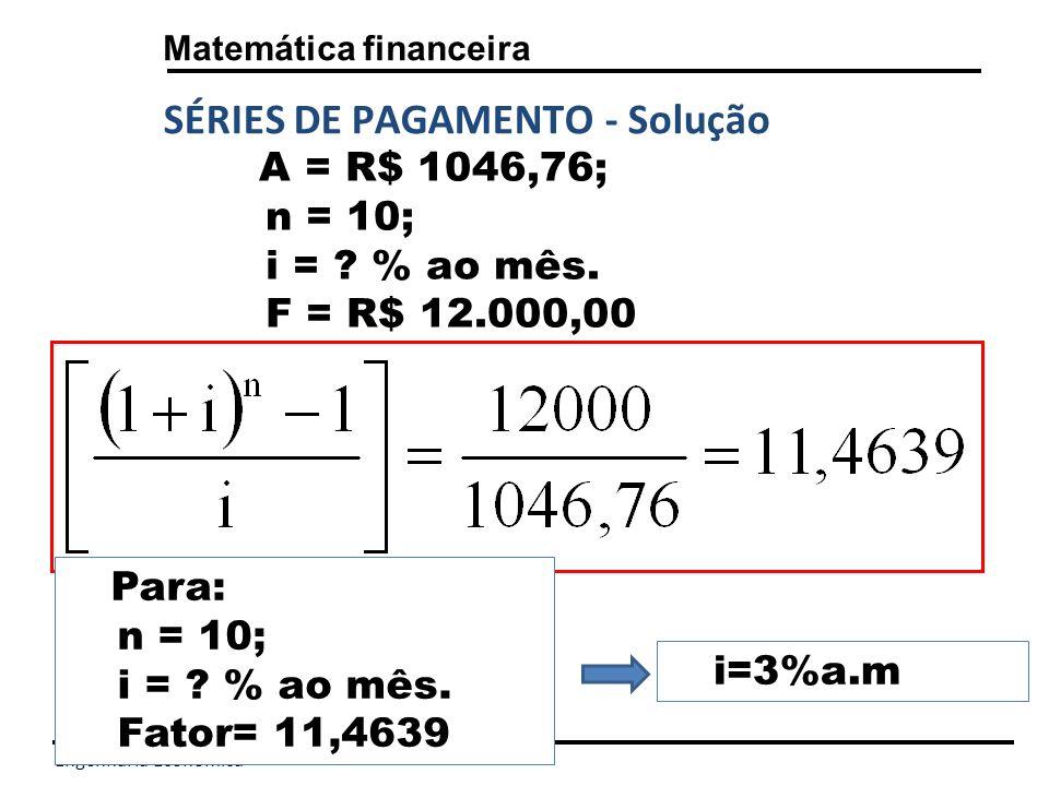 Engenharia Econômica Matemática financeira 3,0%amcm Utilização da Macro Taxa
