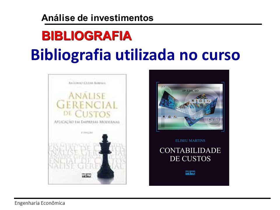 Engenharia Econômica Análise de investimentos PROGRAMA Matemática Financeira.