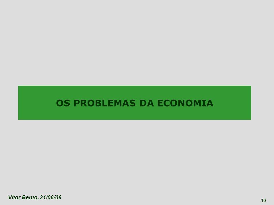 Vítor Bento, 31/08/06 10 OS PROBLEMAS DA ECONOMIA