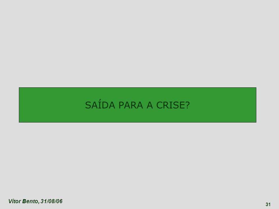 Vítor Bento, 31/08/06 31 SAÍDA PARA A CRISE?