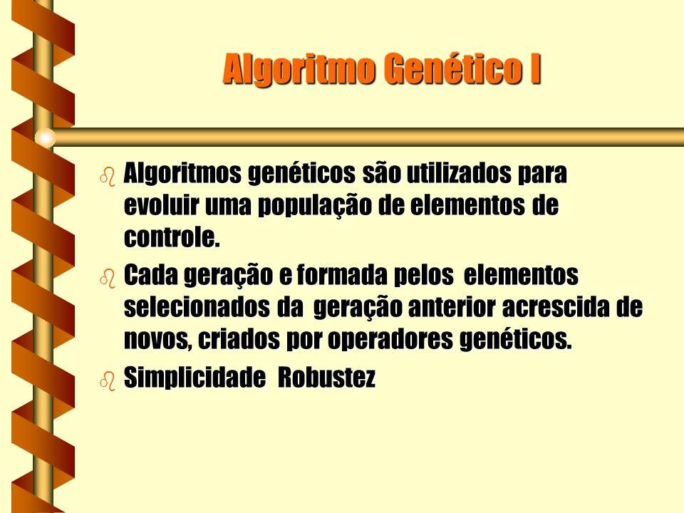 Algoritmo Genético I b Algoritmos genéticos são utilizados para evoluir uma população de elementos de controle.