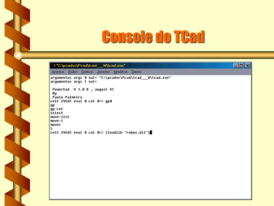 Console do TCad