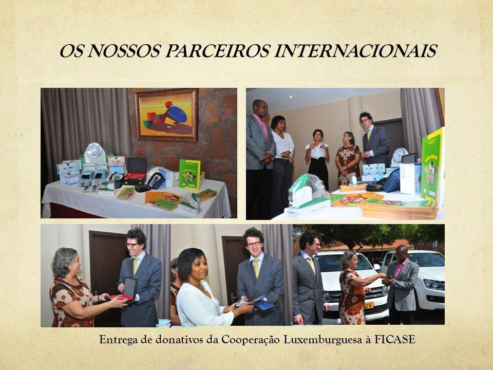 Entrega de donativos da Cooperação Luxemburguesa à FICASE