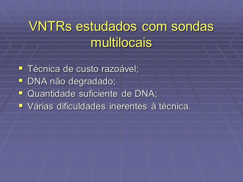 Técnica de custo razoável; Técnica de custo razoável; DNA não degradado; DNA não degradado; Quantidade suficiente de DNA; Quantidade suficiente de DNA