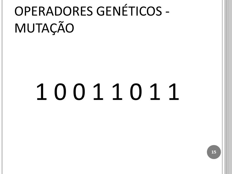 1 0 0 1 1 0 1 1 15 OPERADORES GENÉTICOS - MUTAÇÃO