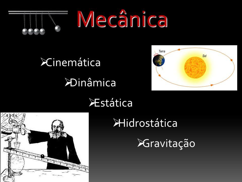 Mecânica Cinemática Dinâmica Estática Hidrostática Gravitação