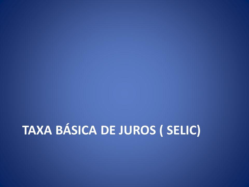 TAXA BÁSICA DE JUROS ( SELIC)