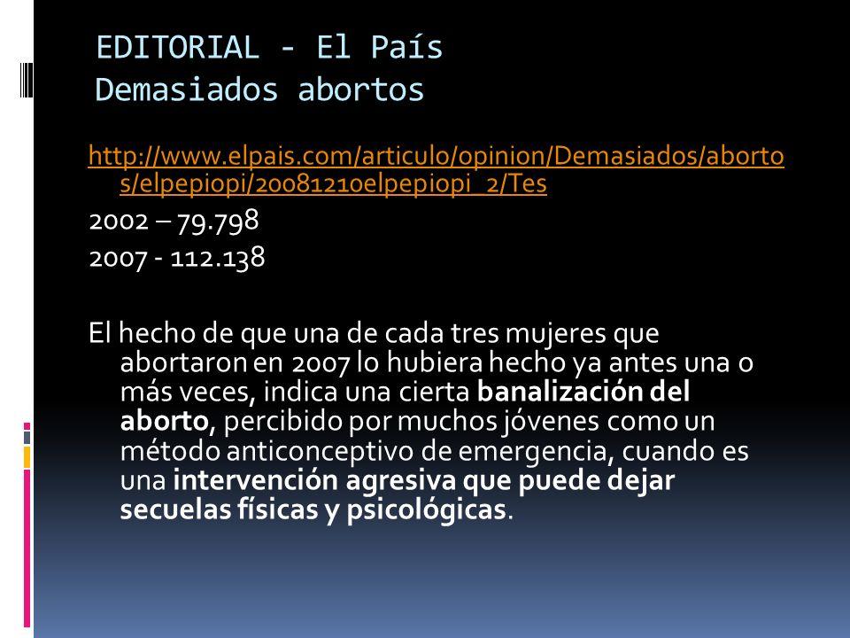 Aborto na Espanha Na Espanha 1 de cada 6 gravidezes termina em aborto.