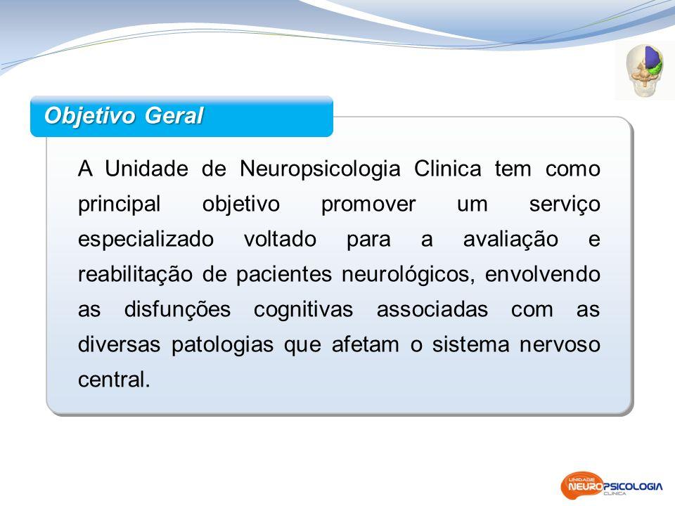 A Unidade de Neuropsicologia Clinica tem como principal objetivo promover um serviço especializado voltado para a avaliação e reabilitação de paciente