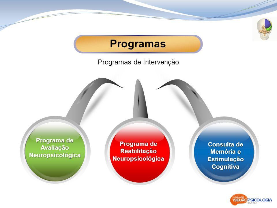 Programa de Reabilitação Neuropsicológica Consulta de Memória e Estimulação Cognitiva Programas de Intervenção Programas Programa de Avaliação Neurops