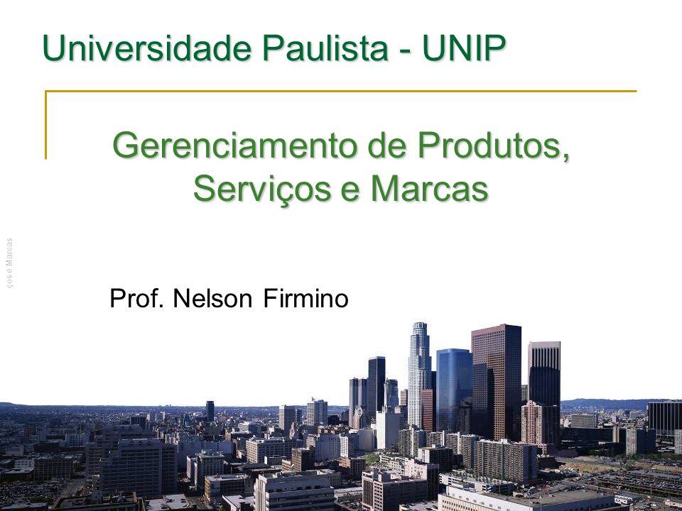 Prof. Nelson Firmino | Gerenciamento de Produtos, Serviços e Marcas Gerenciamento de Produtos, Serviços e Marcas Prof. Nelson Firmino Universidade Pau