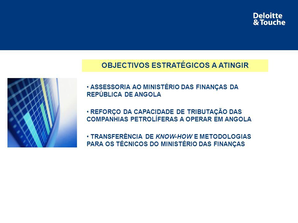 Área de serviço NATUREZA DO TRABALHO EFECTUADO AUDITORIA ÀS DECLARAÇÕES FISCAIS DAS COMPANHIAS PETROLÍFERAS AUDITORIA ÀS CONTAS DAS COMPANHIAS PETROLÍFERAS FORMAÇÃO DOS TÉCNICOS DO MINISTÉRIO DAS FINANÇAS COMPILAÇÃO ESTATISTICA RECOMENDAÇÕES
