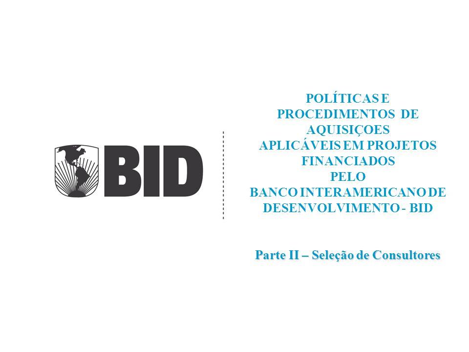 7/5/2014 2 APLICABILIDADE DAS POLÍTICAS SERVIÇOS DE CONSULTORIA: SERVIÇOS DE NATUREZA INTELECTUAL E DE ASSESSORIA, TAIS COMO: (i) desenvolvimento de estudos de pré-viabilidade e viabilidade técnica, econômica, ambiental e financeira; (ii) estudos e projetos; (iii) formulação, planejamento, supervisão ou gerenciamento de obras ou projetos; (iv) assessoria na tomada de decisões e resolução de conflitos; (v) análises periciais; (vi) avaliação dos aspectos jurídicos e financeiros; (vii) auditorias operacionais de projetos; (viii) capacitação e treinamento não oferecidos no mercado; e (ix) elaboração de termos de referência, especificações e bases para processos de aquisição e contratação, etc.