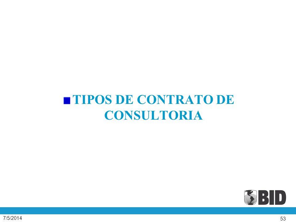7/5/2014 53 TIPOS DE CONTRATO DE CONSULTORIA