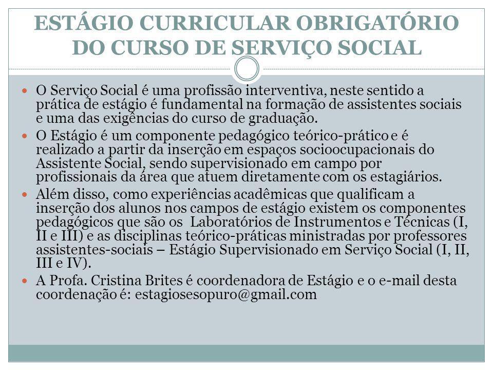 TRABALHO DE CONCLUSÃO DE CURSO (TCC) Uma das exigências do bacharelado em Serviço Social é a elaboração de um trabalho de conclusão de curso.