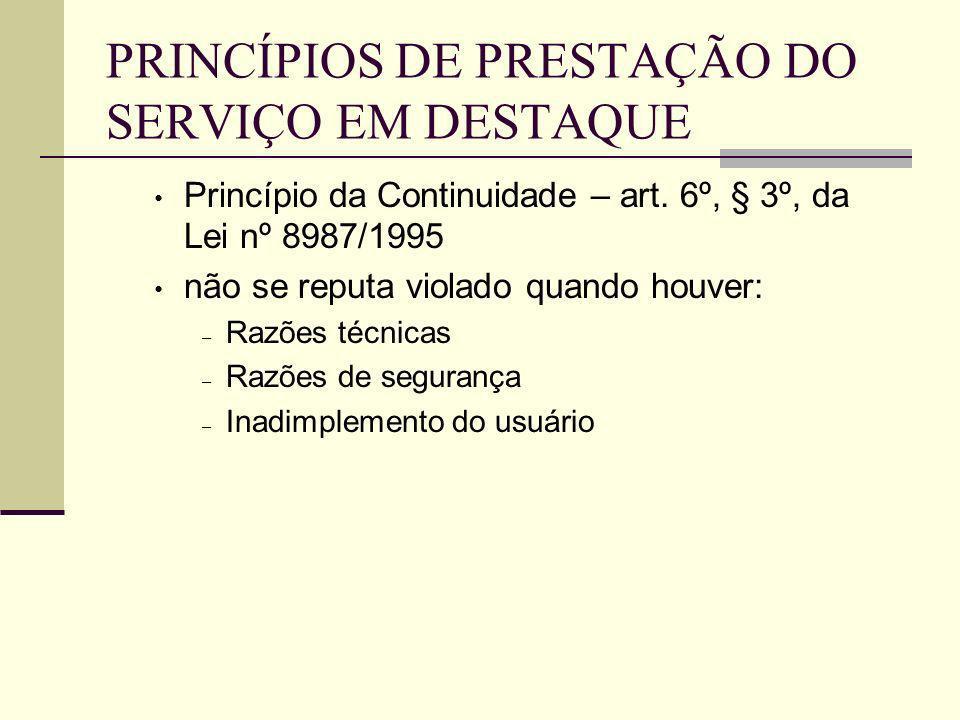 CONTA MÍNIMA Exemplo: Lei n° 6.528, de 11 de maio de 1.978, em seu artigo 4°: A fixação tarifária levará em conta a viabilidade do equilíbrio econômico–financeiro das companhias estaduais de saneamento básico e a preservação dos aspectos sociais dos respectivos serviços de forma a assegurar o adequado atendimento dos usuários de menor consumo, com base em tarifa mínima.