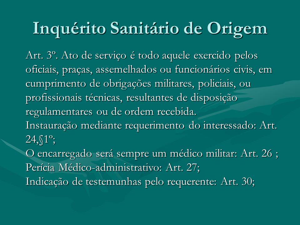 Dec. 11.710 de 29 Set 40 Dec. 11.710 de 29 Set 40 Inquérito Sanitário de Origem:Inquérito Sanitário de Origem: Art. 24. destinada a apurar se a invali