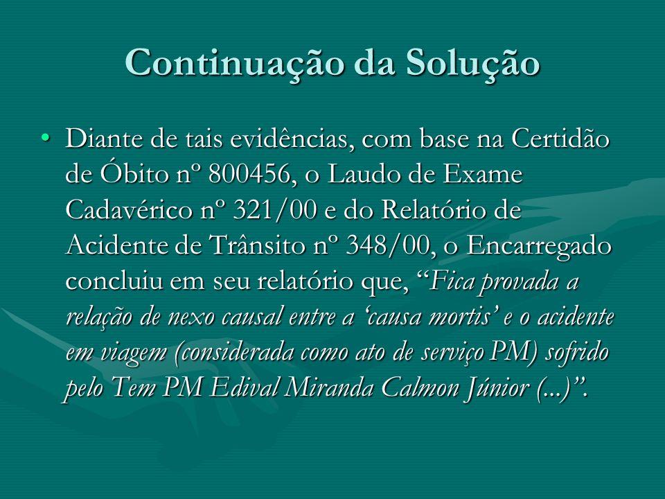 Exemplo 2: Soluções de ISO Mediante Portaria n.º Correg.