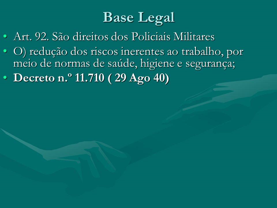Base Legal Art.92. São direitos dos Policiais MilitaresArt.