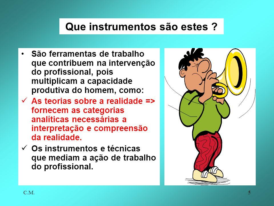 C.M.5 Que instrumentos são estes .