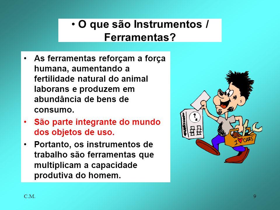 C.M.9 O que são Instrumentos / Ferramentas.