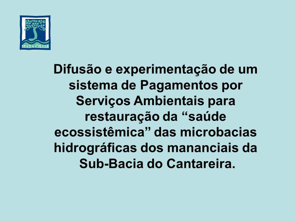 Difusão e experimentação de um sistema de Pagamentos por Serviços Ambientais para restauração da saúde ecossistêmica das microbacias hidrográficas dos