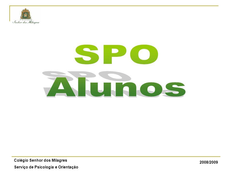 2008/2009 Colégio Senhor dos Milagres Serviço de Psicologia e Orientação ÍNDICE 1.