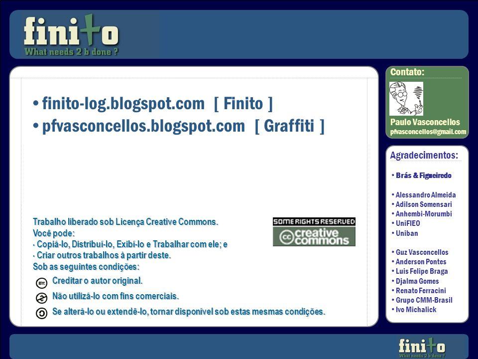 SO? Contato: Paulo Vasconcellos pfvasconcellos@gmail.com Trabalho liberado sob Licença Creative Commons. Você pode: Copiá-lo, Distribuí-lo, Exibí-lo e