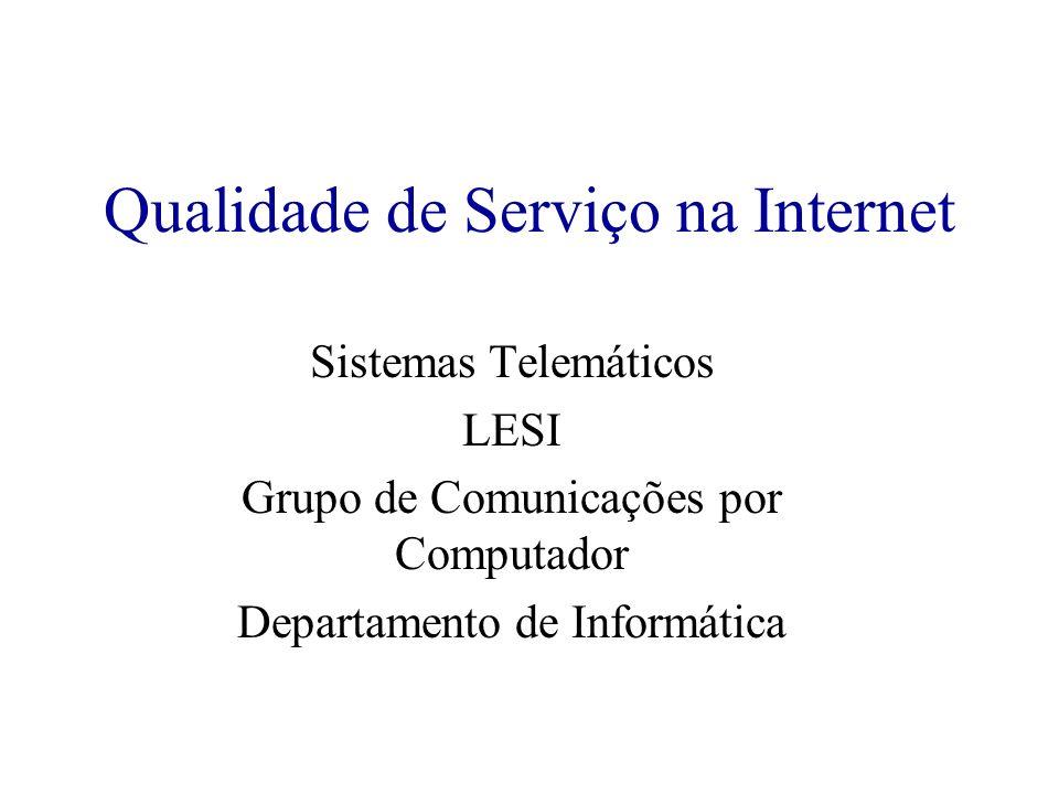Qualidade de Serviço na Internet Sistemas Telemáticos LESI Grupo de Comunicações por Computador Departamento de Informática