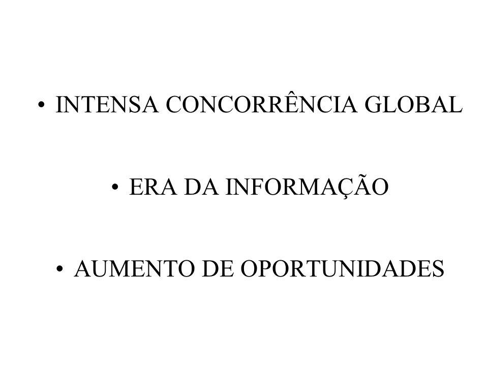 INTENSA CONCORRÊNCIA GLOBAL ERA DA INFORMAÇÃO AUMENTO DE OPORTUNIDADES