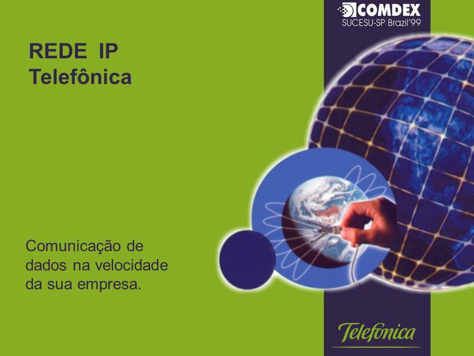 REDE IP Telefônica Comunicação de dados na velocidade da sua empresa.